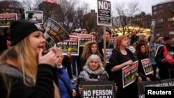 3月1日紐約民眾示威反對川普政府在DACA受益者上的立場。