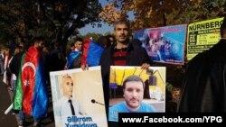 Nyurnberqdə Azad Həsənovun müdafiəsi ilə bağlı aksiya keçirilib