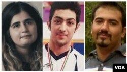 از راست: سهیل عربی، آرمان عبدالعالی، و سپیده قلیان