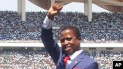 Le président de la Zambie Edgar Lungu, 13 septembre 2016.
