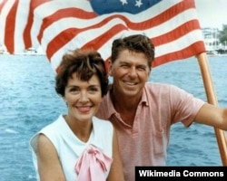 Nancy and Ronald Reagan in 1964.