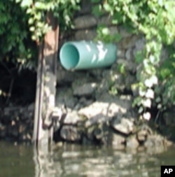 This combined sewer and storm water pipe is one of 53 along the Potomac River