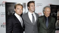 "From left, Leonardo DiCaprio, Armie Hammer and director Clint Eastwood at the premiere of ""J. Edgar"" last week in Los Angeles"