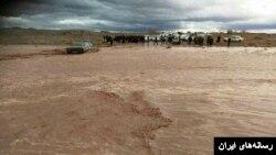 سیلاب در جازموریان کرمان