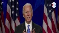 Joe Biden acepta la nominación a la candidatura presidencial del partido Demócrata.