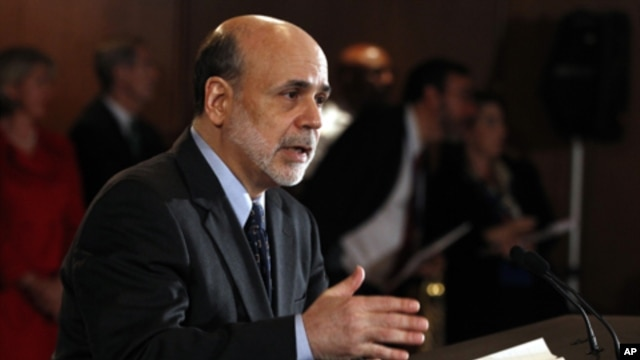 Federal Reserve Chairman Ben Bernanke,  June 2011 (file photo).