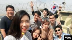 한국 내 탈북 청년들과 남한 청년들, 그리고 외국인들이 함께 안보 현장을 견학하면서 통일에 대해 생각해보는 '2016 젊은 통일아카데미' 행사가 최근 열렸다.