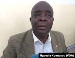 Le Brazzavillois Eric Patrick Mampouya ne jure que par l'arrivée du FMI, au Congo, le 19 septembre 2017. (VOA/Ngouela Ngoussou)