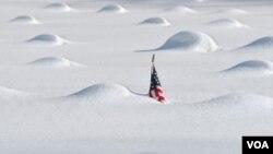 El anormal enfriamiento en las aguas del océano Pacífico ya causó a principios de año intensas nevadas en EE.UU.
