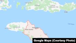 Peta Sumba Timur