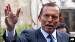 رهبر آسترالیا در جریان سخنرانی در ارزگان