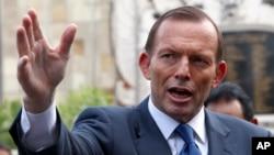 澳大利亞總理阿博特(資料圖片)