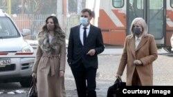 Fadil Novalić sa advokatima dolazi u Sud BiH, 29. januar 2021. (Foto: BIRN BiH)