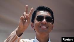 Kandida Andry Rajoelina yitoje mu matora y'umukuru w'igihugu muri Madagascar.