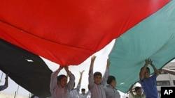 巴勒斯坦人9月22日在约旦河西岸聚会支持巴勒斯坦入联申请