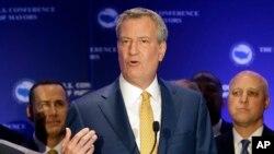 紐約市市長白思豪 (資料照片)