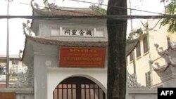 Cơ Xá Linh Từ - đền thờ Lý Thường Kiệt - ở phố Nguyễn Huy Tụ phường Bạch Đằng, quận Hai Bà Trưng, Hà Nội