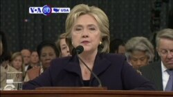 VOA60 America- Hillary Clinton grilled on role in failing to prevent 2012 attacks on American consulate in Benghazi, Libya