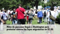 Protestas en Washington, DC por leyes migratorias