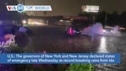 VOA60 Addunyaa - Northeast floods: New York, New Jersey declare states of emergency due to floods