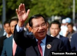 Tư liệu - Thủ tướng Campuchia Hun Sen ở Phnom Penh, ngày 28/6/2019.