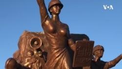 """""""香港时代革命""""雕塑在加州自由雕塑公园揭幕"""