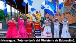 Apertura de la celebración Fiestas Patrias en Nicaragua. [Foto cortesía del Ministerio de Educación].