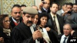 Luật sư và nhà hoạt động nhân quyền Chokri Belaid. Ông Belaid cũng là một trong các nhà lãnh đạo của Mặt trận Nhân dân đối lập Tunisia.