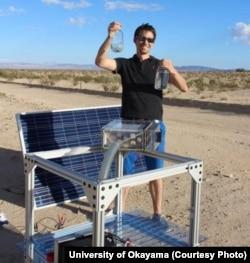 یونیورسٹی آف کیلی فورنیا کا سائنس دان اوکلاہاما کے صحرا میں ہوا سے پانی بنانے کا تجربہ کر رہا ہے