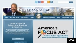 查卡·法塔赫众议员的官方网站截图