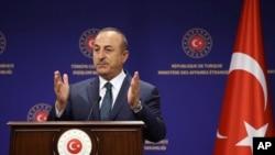 Menteri Luar Negeri Turki, Mevlut Cavusoglu di Ankara, Turki, 19 Juni 2020. (Foto: dok).