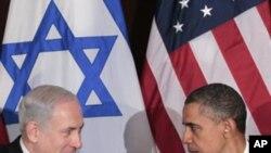Tổng thống Obama bắt tay Thủ tướng Netanyahu trong 1 cuộc họp song phương ở Liên Hiệp Quốc, 21/9/2011