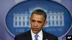 Le président Obama répond aux questions des journalistes accrédités à la Maison blanche (30 avril 2013)