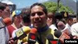 Villca Fernández, líder de la Junta Patriótica Estudiantil de Venezuela. [Foto: Cortesía, Villca Fernández].