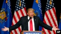 ترامپ در گردهمایی هوادارانش در ایالت ویسکانسین سخنرانی کرد.