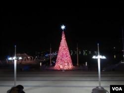 The National Harbor Christmas tree lit up in 2011 (Creative commons photo: Nguyen Nguyen)