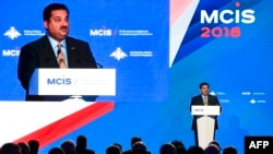 Pakistani Defense Minister Khurram Dastgir Khan attends the VII Moscow Conference on International Security MCIS-2018 in Moscow on April 4, 2018.