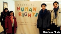 Delegation campaigning for Human Rights in Vietnam. (File)