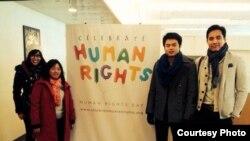 Cô Ann Phạm và các thành viên trong phái đoàn vận động cho nhân quyền Việt Nam đến New York