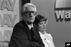"Former Associate FBI Director W. Mark Felt, and his wife Audrey, appear on NBC's ""TODAY"" television show in Washington, D.C. on April 11, 1978."