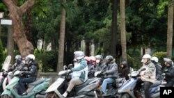 台北街头的摩托车