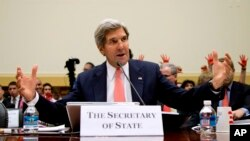 ABD Dışişleri Bakanı John Kerry Kongrede Suriye'ye müdahale planını savunurken