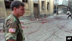 Mjesto masakra na pijaci Markale u avgustu 1995.