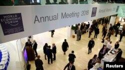 Hội nghị thường niên của Diễn đàn Kinh tế Thế giới (WEF) tại Davos, Thụy Sĩ. Ảnh chụp ngày 23/1/2018. REUTERS/Denis Balibouse
