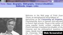 Trang web của Giáo sư Trịnh Xuân Thuận