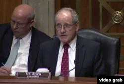 美国参议院外交委员会的主席、来自爱达荷州的共和党参议员里施