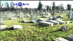 VOA60 America - More than 100 headstones vandalized at a Jewish cemetery in Philadelphia