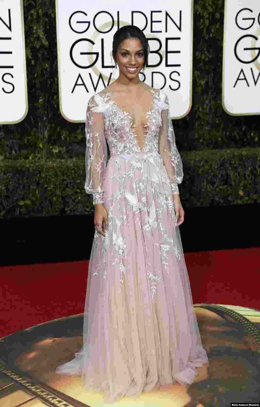 Corrine Foxx, filha de Jamie Foxx, foi a Miss Golden dos Globos de Ouro