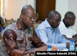 Noël Chadare de la COSI Bénin, à Cotonou, le 24 mars 2018. (VOA/Ginette Fleure Adandé)