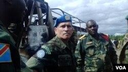MONUSCO Force Commander General Carlos Alberto dos Santos Cruz in the Beni territory in eastern Congo, May, 2015. (Nicholas Long/VOA)